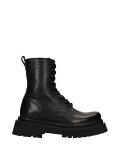 Alexandre Mattiussi Combat Boots In Black Leather