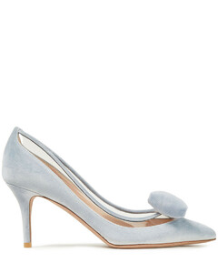 Garavani Woman Bow-embellished Velvet And Pvc Pumps