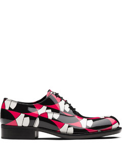 geometric print Oxford shoes