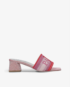 Love Paris embroidered strap mules