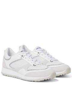 Java/F皮革和网布运动鞋