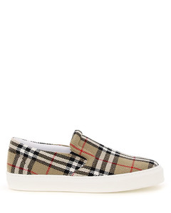 THOMPSON CHECK SLIP ON SNEAKERS