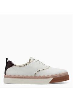 White and beige Lauren sneakers