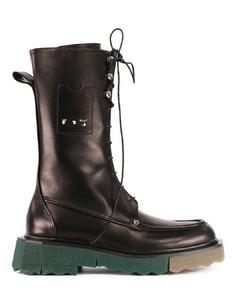 Black Sponge Combat boot