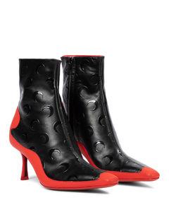 Mytheresa发售 —x Marine Serre皮革及踝靴