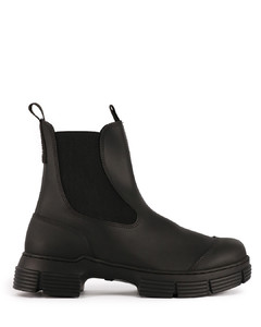 Black Recycled rubber boots