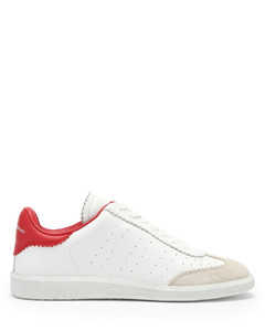 Bryce leather and suede trainers
