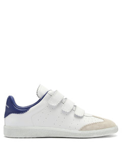 Beth leather and suede velcro trainers