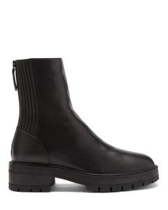 Saint Honorégrained-leather boots