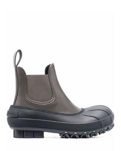 黑色Alba Macramé 高跟踝靴