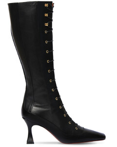 80mm Duck Leather Lace-up Boots