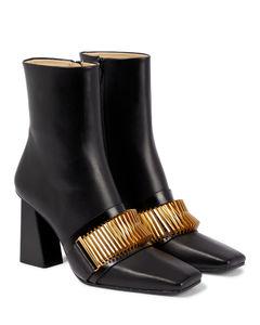 Quad Coil皮革及踝靴