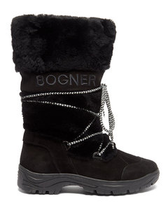 Alta Badia faux-shearling trim and suede boots