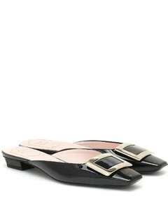 Belle Vivier patent-leather slippers