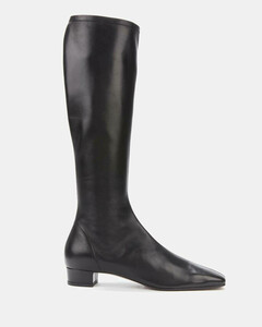Women's Edie Leather Knee High Boots - Black