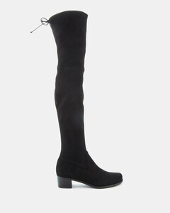 Women's Midland Suede Over The Knee Heeled Boots - Black