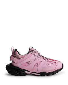 Pink track sneakers
