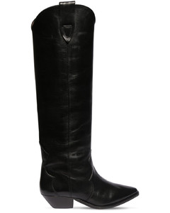 40mm Denvee Leather Tall Boots