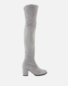 Women's Tieland Suede Over The Knee Heeled Boots - Flannel