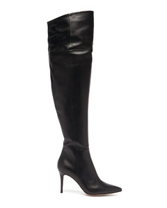 Over-the-knee 85 leather boots
