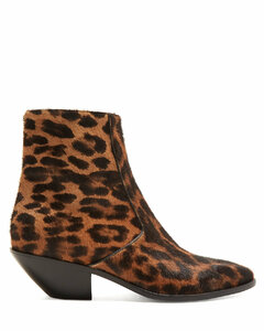 West leopard-print calf-hair boots