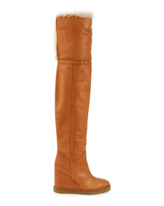 Manon Wedge Thigh Boots