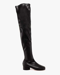 Leather cuissardes boots