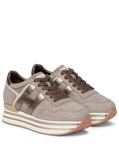 H483皮革厚底运动鞋