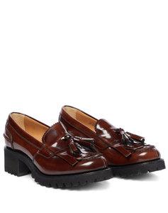 Colleen皮革厚底乐福鞋