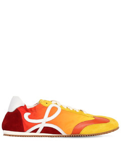100mm Ballet Nylon & Suede Sneakers