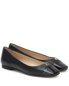 Gisela皮革芭蕾舞平底鞋