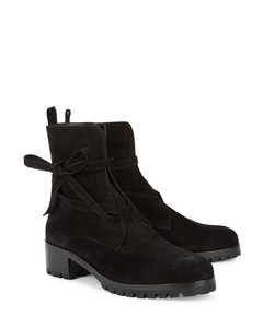 Aria 50 black suede ankle boots