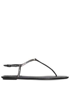 10mm Embellished Satin Thong Sandals