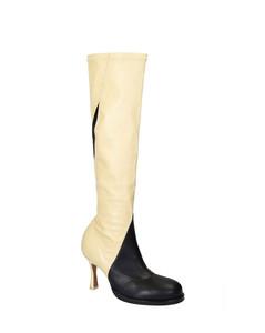 Céline 322873buvc24bj Women's Beige/black Leather Boots