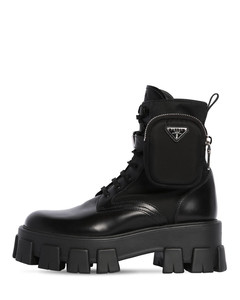 55mm Monolith Leather & Nylon Boots