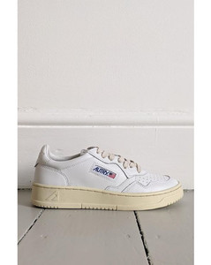 Nylon and leather ankle boots