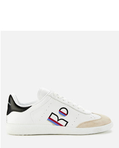 Women's Bryce Leather Low Top Trainers - Raspberry