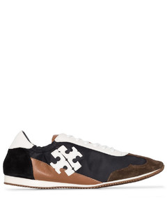 panelled logo patch sneakers