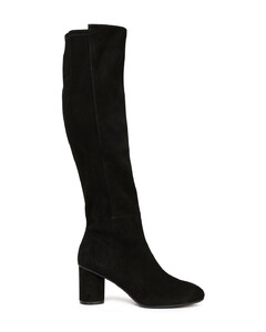 Stretch-suede knee boots