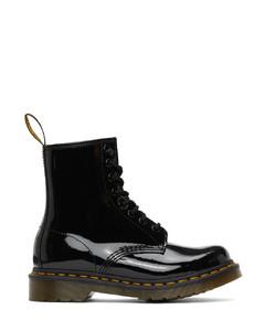黑色1460漆皮踝靴