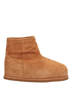 's Leather Lace Up Military Boots - Nero
