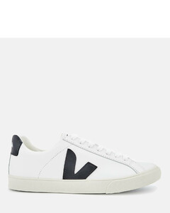 Women's Esplar Leather Trainers - Extra White/Black