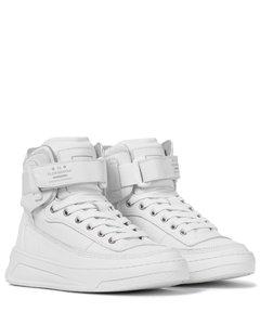 皮革高帮运动鞋