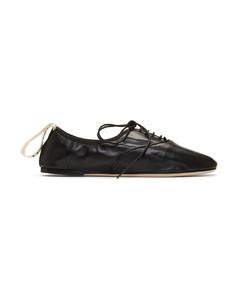 黑色Soft德比鞋