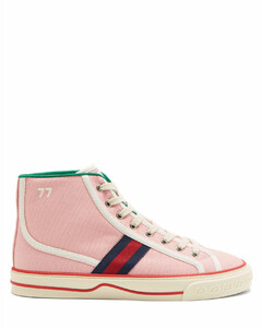 Tennis 1977 Web-stripe canvas high-top trainers