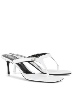 Ivy 65 white leather sandals