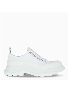 Women's white Tread Slick lace-up shoes