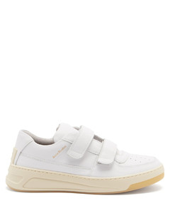 Steffey velcro-strap leather trainers