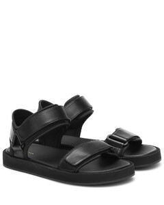 Hook and Loop leather sandals