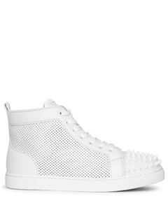 Lou Spikes perforated leather sneakers